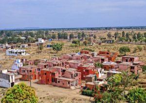 インドールの集合住宅「Aranya Low Cost Housing」