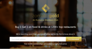 photo by Zomato.com    新しいサービス「Zomato Gold」