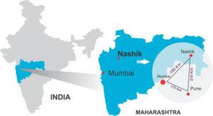 インド西部に位置するワイン産地ナシク