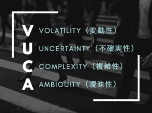 """""""VUCA""""の時代"""